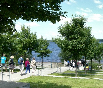Impression aus der Lausitz: Promenade