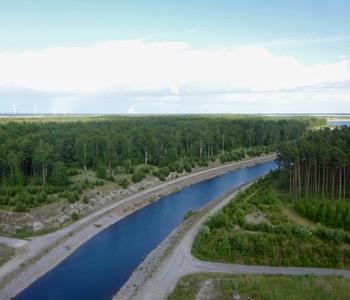 Impression aus der Lausitz: Kanal