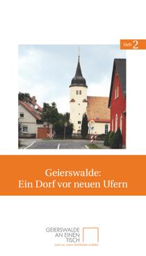 Titelseite des zweiten Heftes von Geierswalde an einen Tisch: »Geierswalde: Ein Dorf vor neuen Ufern«