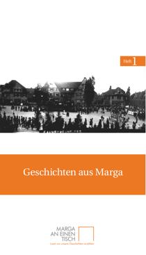 Titelseite des ersten Heftes von Marga an einen Tisch: »Geschichten aus Marga«