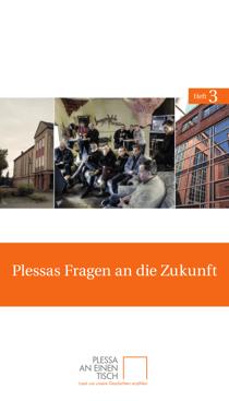 Titelseite des dritten Heftes von Plessa an einen Tisch: »Plessas Fragen an die Zukunft«
